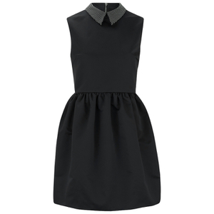 McQ Alexander McQueen Women's Studded Collar Party Dress - Black