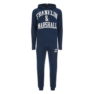 Franklin & Marshall Large Logo Hoody Tracksuit - Navy