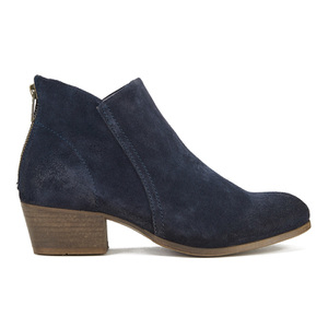 H Shoes by Hudson Women's Apisi Suede Heeled Ankle Boots - Navy