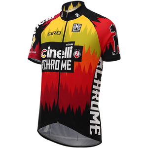 Santini Cinelli Chrome 16 Short Sleeve Jersey - Black/Orange
