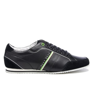 BOSS Green Men's Victoire LA Leather Trainers - Charcoal