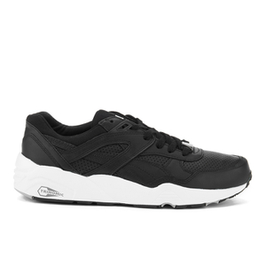 Puma Men's R698 Core Leather Trainers - Black/Black/Drizzle