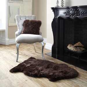 Royal Dream Large Sheepskin Rug - Brown