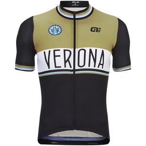 Alé Classic Verona Short Sleeve Jersey - Black/Brown