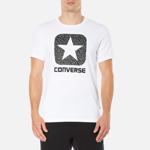 Converse Men's All Star Shield Reflective Rain Box Star T-Shirt - White