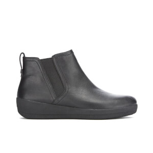FitFlop Women's F-Sporty Leather Chelsea Boots - Black - UK 7