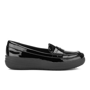 FitFlop Women's F-Sporty Patent Penny Loafers - Black - UK 7