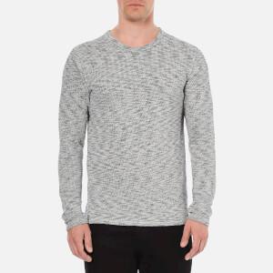 Selected Homme Men's Grad Crew Neck Sweatshirt - Light Grey Melange
