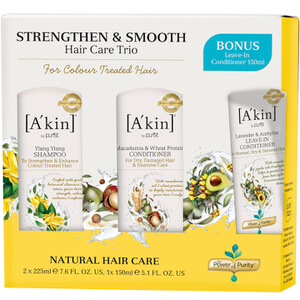 A'kin Strengthen & Smooth Hair Care Trio (Worth £36.00)