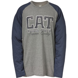 Caterpillar Men's Rugged Baseball T-Shirt - Grey