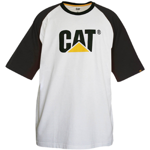 Caterpillar Men's Raglan Trademark T-Shirt - White