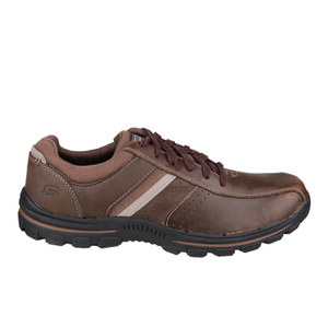 Skechers Men's Braver Alfano Casual Lace Up Shoes - Brown