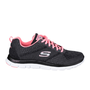 Skechers Women's Flex Appeal Pretty Please Low Top Trainers - Grey