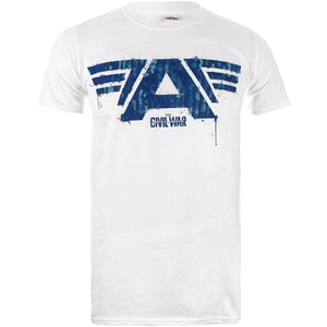 Marvel Herren Captain America Civil War A-Wings T-Shirt - Weiss