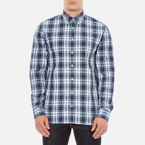 Tommy Hilfiger Men's Atlantic Check Long Sleeve Shirt - Flint Stone/Black Iris