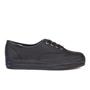 Keds Women's Triple Leather Trainers - Black