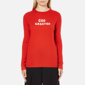 Bella Freud Women's God Created Merino Wool Jumper - Red