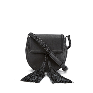 Rebecca Minkoff Women's Isobel Tassel Saddle Crossbody Bag - Black