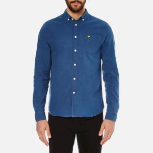 Lyle & Scott Vintage Men's Long Sleeve Indigo Oxford Shirt - Light Indigo