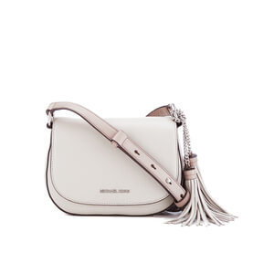 MICHAEL MICHAEL KORS Elyse Tassle Saddle Bag - Cream