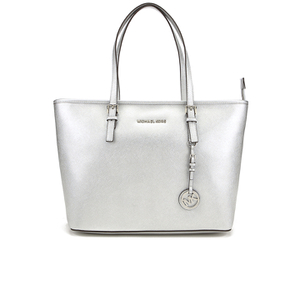 MICHAEL MICHAEL KORS Jet Set Travel Top Zip Tote Bag - Silver