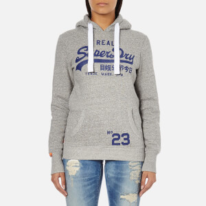 Superdry Women's Vintage Logo Entry Hoody - Rugged Grey