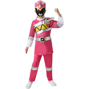 Power Rangers Girls' Dino Charge Pink Ranger Fancy Dress