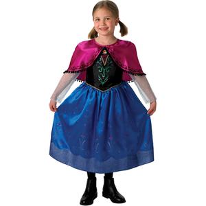 Disney Frozen Girls' Deluxe Anna Fancy Dress