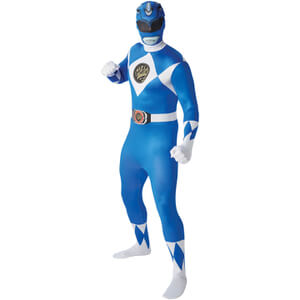 Power Rangers Men's 2nd Skin Blue Ranger Fancy Dress
