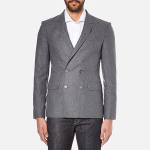 Carven Men's Double Breasted Blazer - Gris Chine