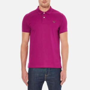 GANT Men's Contrast Collar Pique Polo Shirt - Raspberry Purple