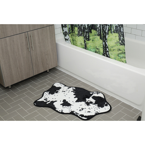 Cowhide Bath Rug - Black/White