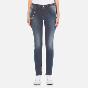 Love Moschino Women's Chain Link Detail Jeans - Blue