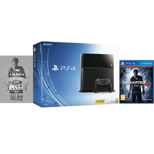 Sony PlayStation 4 500GB Console - Includes Uncharted 4: A Thief's End + Limited Edition Print