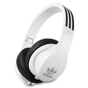 adidas Originals by Monster Headphones (3-Button Control Talk & Passive Noise Cancellation) - White