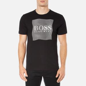 BOSS Green Men's Tee 8 Raised Print T-Shirt - Black