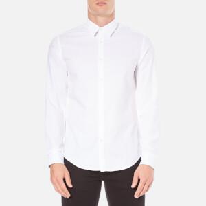 BOSS Green Men's C-Buster Logo Long Sleeve Shirt - White