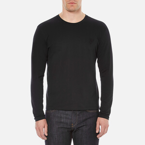 Versace Collection Men's Small Logo Crew Neck T-Shirt - Black