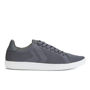 Crosshatch Men's Cross Shot Mesh Trainers - Smoked Pearl