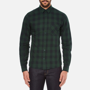 J.Lindeberg Men's Daniel Soft Check Shirt - Green