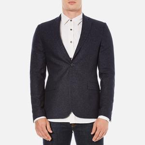 J.Lindeberg Men's Hopper Silk Tweed Jacket - Blue
