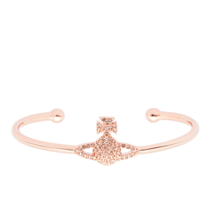 Vivienne Westwood Jewellery Women's Grace Bas Relief Bangle - Light Peach