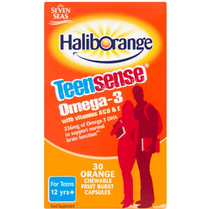 Haliborange Teensense Omega 3 Orange Flavour Chewable Capsules - 30 Capsules
