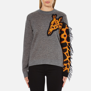 PS by Paul Smith Women's Giraffe Jumper - Grey