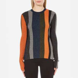 PS by Paul Smith Women's Khaki Lurex Jumper - Multi