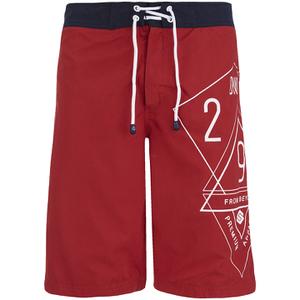 Smith & Jones Men's Amplitude Swim Shorts & Flip Flops - Rift Red