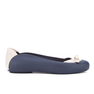 Melissa Women's Pump Bow Ballet Flats - Navy Contrast