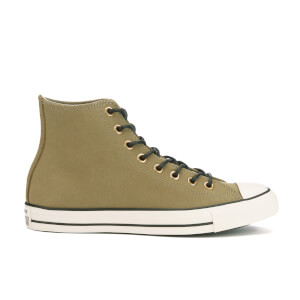 Converse Men's Chuck Taylor All Star Leather/Corduroy Hi-Top Trainers - Jute/Egret/Black