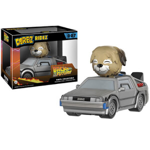 Back to the Future Delorean Dorbz Ridez with Einstein Vinyl Figur