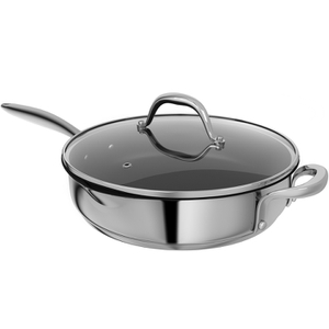 Morphy Richards 79799 Professional 28cm Pro Pour Saute Pan - Stainless Steel